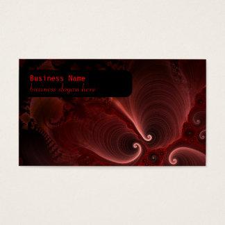 Red & Black Fractal Swirls Business Card