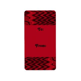red black gift tags custom address label
