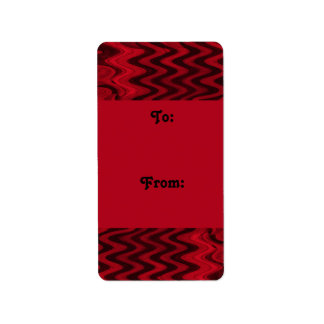 red black gift tags address label