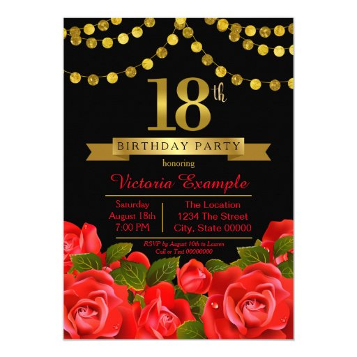 Invitation For 18Th Birthday Design with good invitations layout