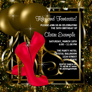 red black and gold invitations zazzle