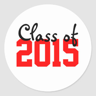 Red & Black Graduation Year Envelope Seal Stickers