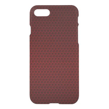 Aztec Themed Red & Black Graphite Honeycomb Carbon Fiber iPhone 7 Case