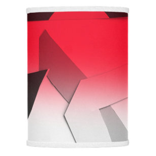 Red Black Gray And White Abstract Lamp Shade