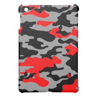 RED, BLACK & GRAY CAMO iPad MINI COVERS