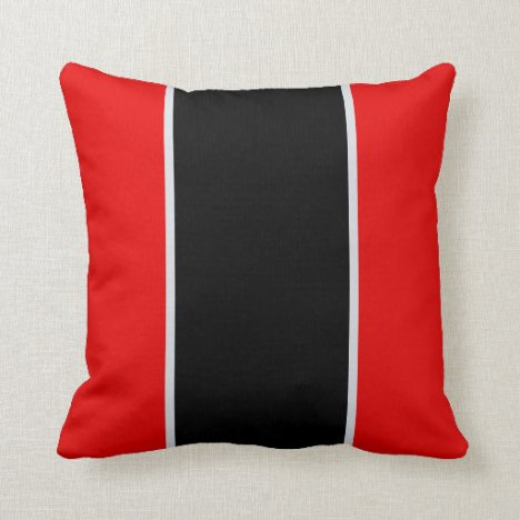 Red Black Gray Throw Pillow