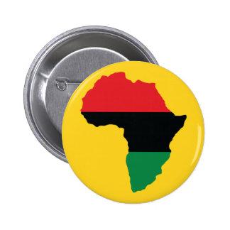 Red, Black & Green Africa Flag 2 Inch Round Button