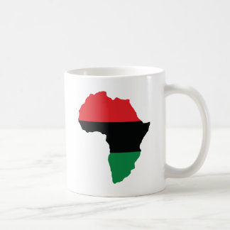 Red, Black & Green Africa Flag Coffee Mug