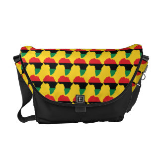 Red, Black & Green Africa Flag Courier Bag