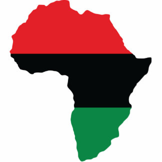 Red, Black & Green Africa Flag Cutout