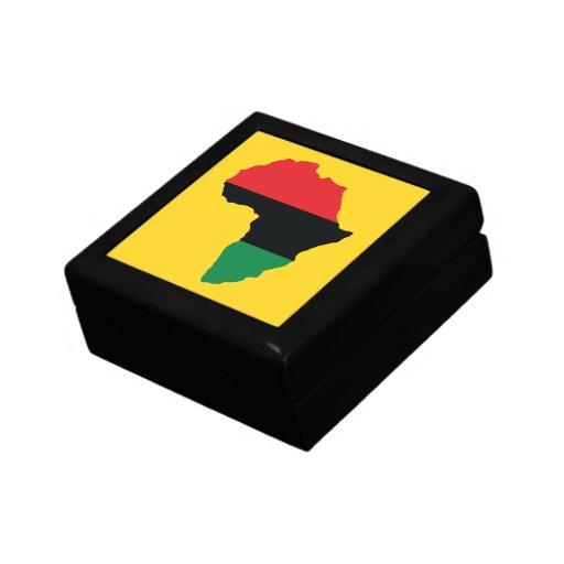 Red, Black & Green Africa Flag Keepsake Box