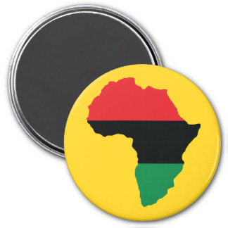Red, Black & Green Africa Flag 3 Inch Round Magnet