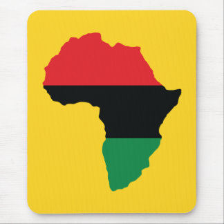 Red, Black & Green Africa Flag Mouse Pad