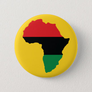 Red, Black & Green Africa Flag Pinback Button