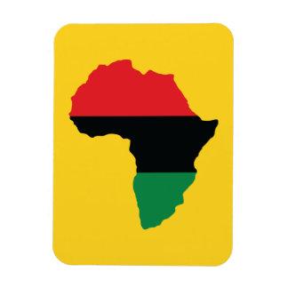 Red, Black & Green Africa Flag Rectangular Photo Magnet
