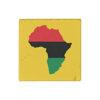 Red, Black & Green Africa Flag Stone Magnet
