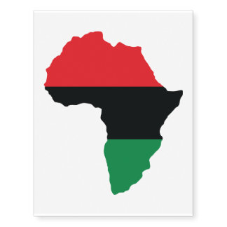 Red, Black & Green Africa Flag Temporary Tattoos