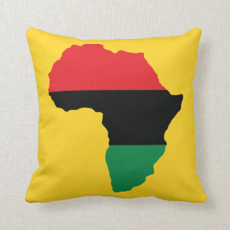 Red, Black & Green Africa Flag Throw Pillow
