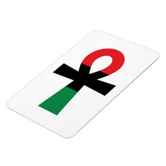 Red, Black & Green Ankh Magnet
