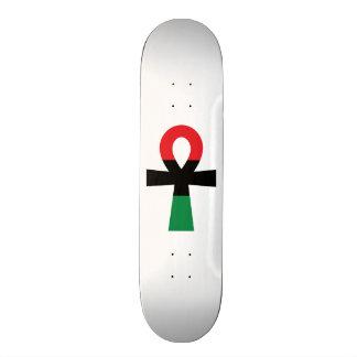 Red, Black & Green Ankh Skateboard Deck