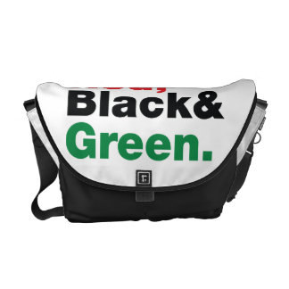 Red, Black & Green. Courier Bag