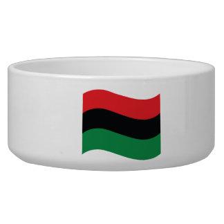 Red, Black & Green Flag Bowl