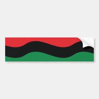 Red, Black & Green Flag Bumper Sticker