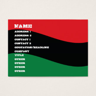 Red, Black & Green Flag Business Card