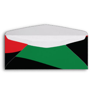 Red, Black & Green Flag Envelope