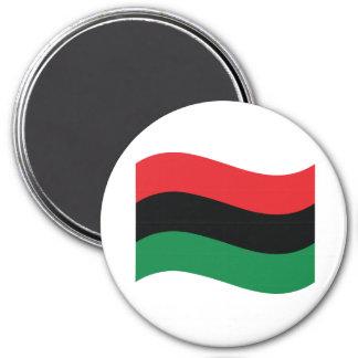 Red, Black & Green Flag Magnet