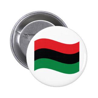 Red, Black & Green Flag Pinback Button