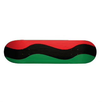 Red, Black & Green Flag Skateboard Deck