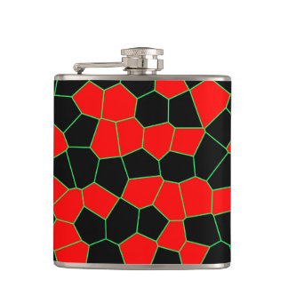 Red Black Green Flask