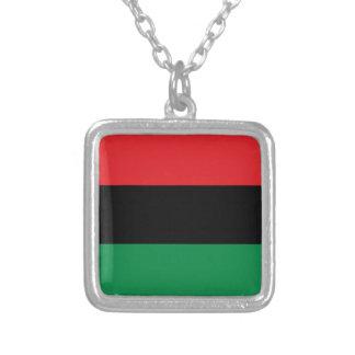 red black green pan african color marcus garvey pendant