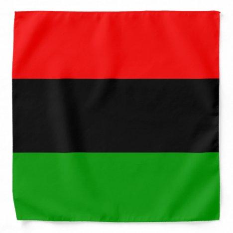 Red, Black, Green Pan African Flag Bandana