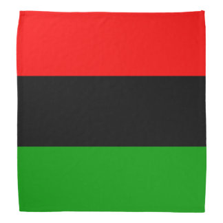 Red, Black, Green Pan African Flag Bandana