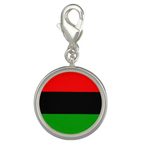 Red, Black, Green Pan African Flag Charm