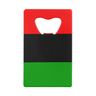 Red, Black, Green Pan African Flag Credit Card Bottle Opener