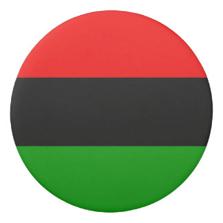 Red, Black, Green Pan African Flag Eraser