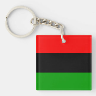 Red, Black, Green Pan African Flag Keychain