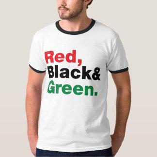 Red, Black & Green. T-Shirt