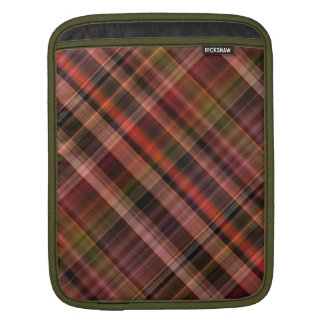 Red black green tartan pattern sleeves for iPads