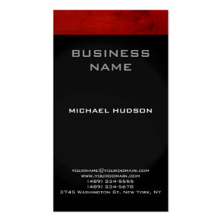 Red Black Grey Consultant Business Card