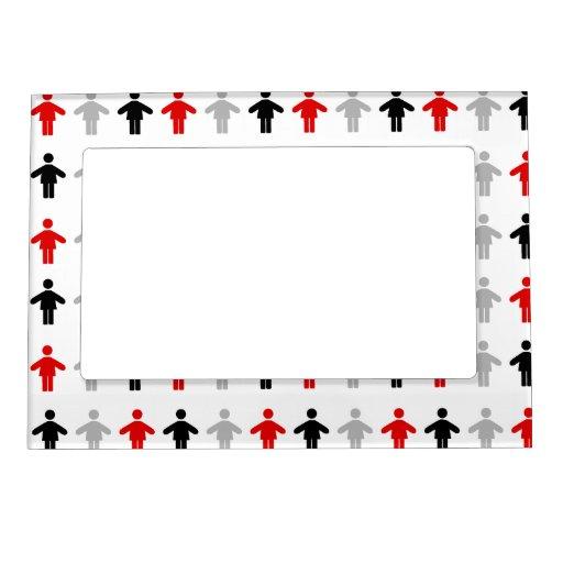 Red Black Grey Magnet Frame