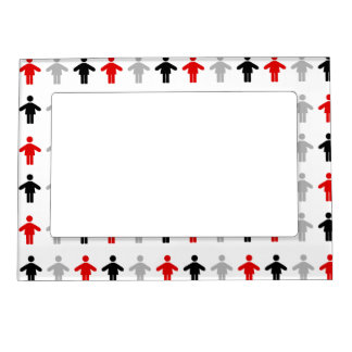 Red Black Grey Patten Kitchen Gift Magnetic Picture Frames