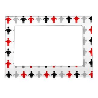 Red Black Grey Patten Kitchen Gift Magnetic Photo Frame