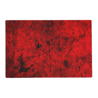 Red Black grunge abstract digital graphic art Placemat