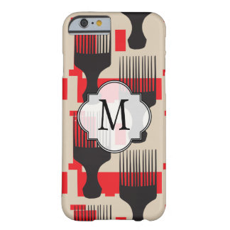 Red Black Hair Comb Afro Pick Barely There iPhone 6 Case