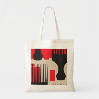 Red Black Hair Comb Afro Pick Tote Bag