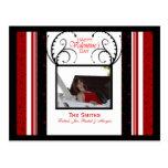 Red Black Heart postcard